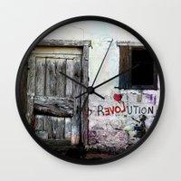 revolution Wall Clocks featuring rEVOLution by Bärdie D/Sign