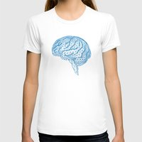 psychology T-shirts featuring blue human brain by Illustree