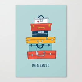 Take me anywhere Canvas Print