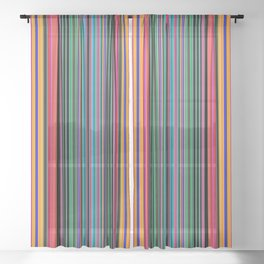 MAGIC STRIPES Sheer Curtain