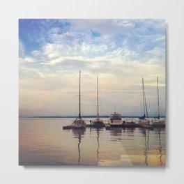 Sailboats on a Summer Evening Metal Print