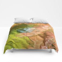 Salmon Mosaic Abstract Art Comforters