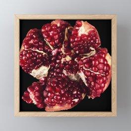 Garnets and fractal hearts Framed Mini Art Print