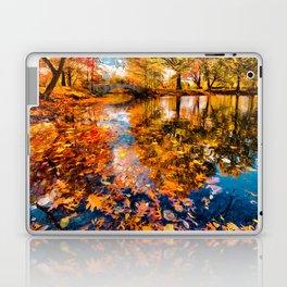 Boston Fall Foliage Reflection Laptop & iPad Skin