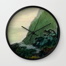 Mists In The Pitons: St. Lucia Wall Clock
