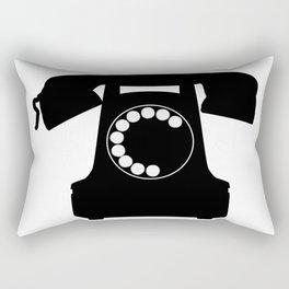 Traditional Telephone Icon Rectangular Pillow