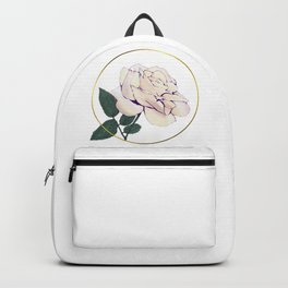 Rose and Metallic Gold Circle Backpack