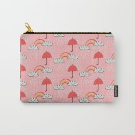 April showers rainbow Clouds Pink #nursery Carry-All Pouch