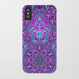 Pink, Purple, and Blue Mandala iPhone Case