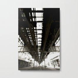 "Beneath the ""L"" Train - Chicago Metal Print"