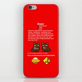 Steal My Paycheck Fat Cats iPhone Skin