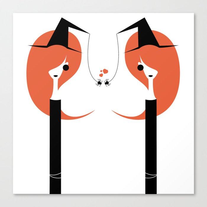 1 O'Clock Love Affair Canvas Print by codyart