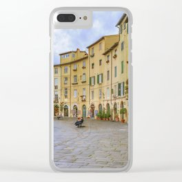Piazza Anfiteatro, Lucca City, Italy Clear iPhone Case