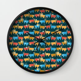 Geek Chic Cats {Nerds, Cameras, Computers, Bow Ties & Glasses} Wall Clock