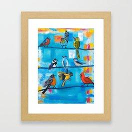 Bird Celebration Framed Art Print