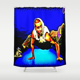 B-BOY FRREZE, JUST FOR KICKS Shower Curtain