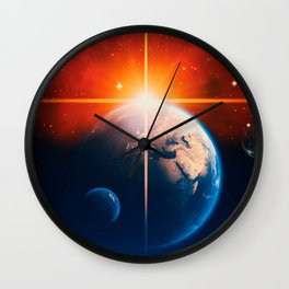 Earth Sunset Wall Clock