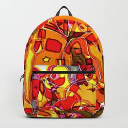 Volcano Pattern Backpack