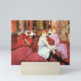Henri de Toulouse-Lautrec Salon in the Rue 1864 Mini Art Print