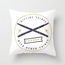 hitting 1 Throw Pillow