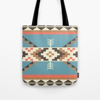 aztec Tote Bags featuring AZTEC by 6ense