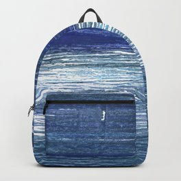 Metallic blue abstract watercolor Backpack