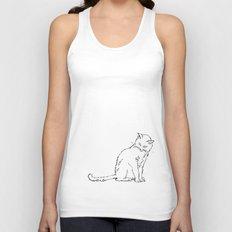 Cat illustration Unisex Tank Top