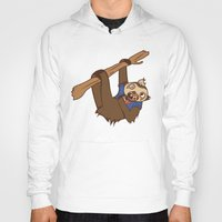 sloth Hoodies featuring Sloth by Hoborobo