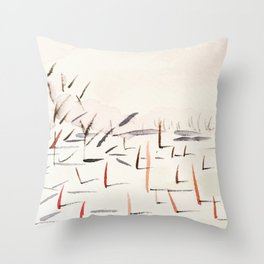Sticks and Shadows on the North Thompson Throw Pillow