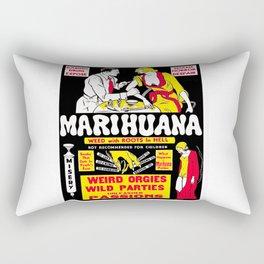 Marijuana Poster (Reefer Madness) Rectangular Pillow