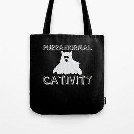 Purranormal Cativity Ghost Cat Tote Bag