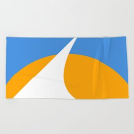 Redding City Flag Beach Towel