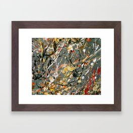 Jackson Pollock Interpretation Acrylics On Canvas Splash Drip Action Painting Framed Art Print
