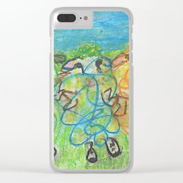 Three Ewes Chillin Clear iPhone Case
