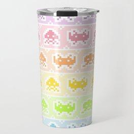 Pixel Invaders Travel Mug