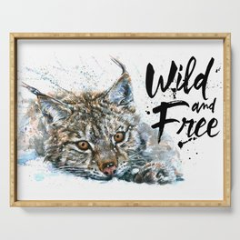 Lynx Wild and Free Serving Tray