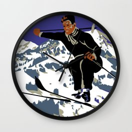 Winter in Zweisimmen Schweiz Wall Clock
