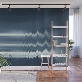 Liquid Blue Abstract Digital Art Wall Mural