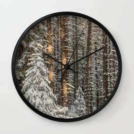 lonely pine Wall Clock