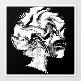 Black&White Woman Canvas Print