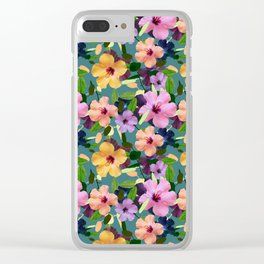 It makes me happy Clear iPhone Case