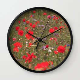 Sleepy Fields Wall Clock