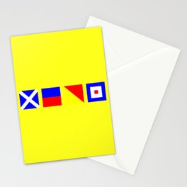 Nautical Flags   MEOW  Stationery Cards