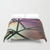 one line Duvet Covers featuring Line One by Jillian VanZytveld