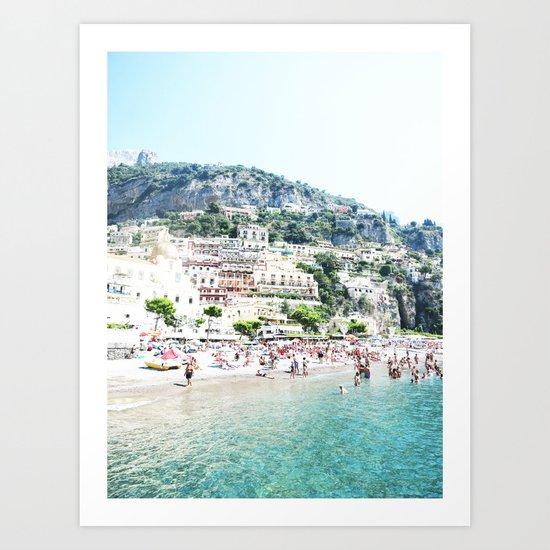 Positano beach II Art Print