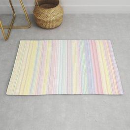 Happy Dream -Elegant Colorful stripe- Rug