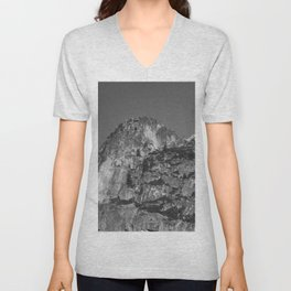 Mountain with Dusting of Snow Unisex V-Neck