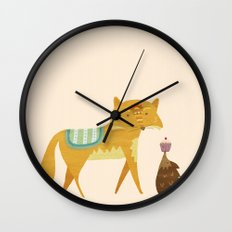 The Fox and the Hedgehog Wall Clock