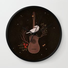 The White Raven Wall Clock