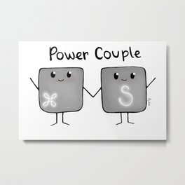 Power Couple Metal Print